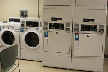 Laundry room in Clark Hall