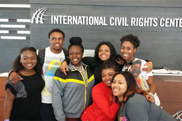 Students on Civil Rights Pilgrimage trip